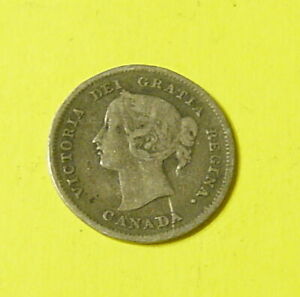 1899 CANADIAN SILVER 5CENTS  FINE  NICE COLLECTABLE GRADE