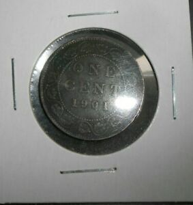 CANADA/CANADIAN 1901 LARGE CENT  NICER COIN