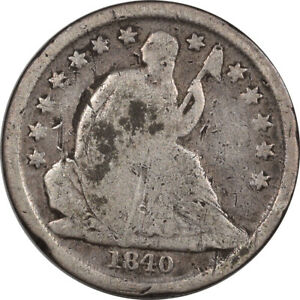 1840 O LIBERTY SEATED DIME   NO DRAPE    DECENT EXAMPLE W/ MINOR ISSUE