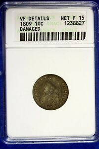 Click now to see the BUY IT NOW Price! 1809   ANACS VF CAPPED BUST DIME     B11738