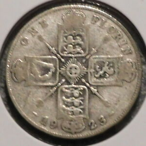 BRITISH FLORIN   1923   OVERSTOCK SALE    $1 UNLIMITED SHIPPING  38