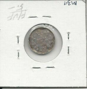 CANADA 1902 H SMALL H FIVE CENTS SMALL NICKEL EDWARD VII STERLING SILVER COIN