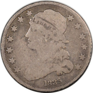 1835 CAPPED BUST QUARTER   PLEASING CIRCULATED EXAMPLE