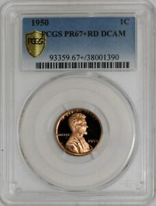 Click now to see the BUY IT NOW Price! 1950 LINCOLN CENT 1C PR67  RD DCAM SECURE PLUS PCGS  941584 2