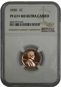 1950 LINCOLN CENT 1C PF67  RD ULTRA CAMEO NGC 942029 16