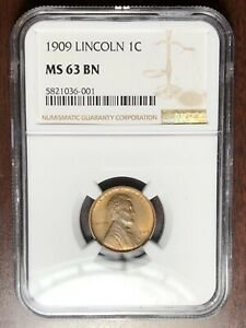 1909 P NGC MS 63 LINCOLN CENT WHEAT PENNY