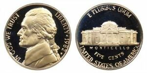 1982 S GEM BU PROOF JEFFERSON NICKEL 5 CENT BRILLIANT UNCIRCULATED US COIN PF