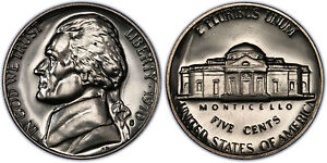 1970 S GEM BU PROOF JEFFERSON NICKEL 5 CENT BRILLIANT UNCIRCULATED US COIN PF
