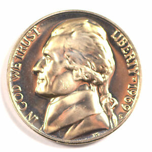 1969 S GEM BU PROOF JEFFERSON NICKEL 5 CENT BRILLIANT UNCIRCULATED US COIN PF