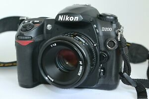 SUPERB NIKON D200 DIGITAL DSLR AF 50MM F1.8 50/1.8 LENS LOW SHUTTER COUNT 8K