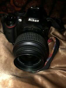NIKON D D5200 24.1MP DIGITAL SLR CAMERA   BLACK  KIT W/ AF S DX G VR 18 55MM