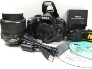 EXCELLENT NIKON D5100 16.2MP DSLR DIGITAL SLR CAMERA W/ 18 55 AF S NIKKOR LENS