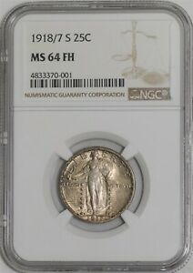 Click now to see the BUY IT NOW Price! 1918/7 S STANDING LIBERTY QUARTER 25C MS64 FH NGC   939099 3
