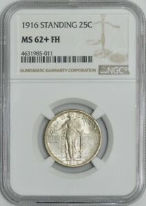 Click now to see the BUY IT NOW Price! 1916 STANDING LIBERTY QUARTER 25C MS62  FH NGC 942063 4