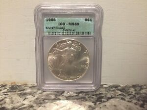 1986 ICG MS 69 $1 AMERICAN EAGLE DOLLAR