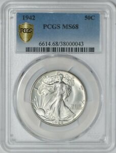 Click now to see the BUY IT NOW Price! 1942 WALKING LIBERTY HALF 50C MS68 SECURE PLUS PCGS