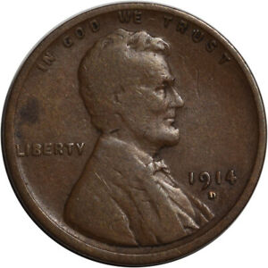 1914 D LINCOLN CENT   KEY DATE   PLEASING CIRCULATED EXAMPLE