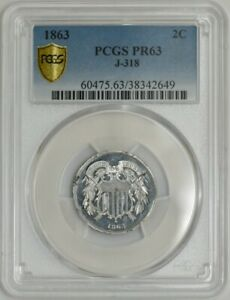 Click now to see the BUY IT NOW Price! 1863 TWO CENT 2C PATTERN J 318 R.7 PR63 SECURE PLUS PCGS 941990 2