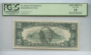 Click now to see the BUY IT NOW Price! 1974 PCGS ERROR PRINT TEN DOLLAR BILL  FACE ON BACK  PHENOMENAL E02715093C