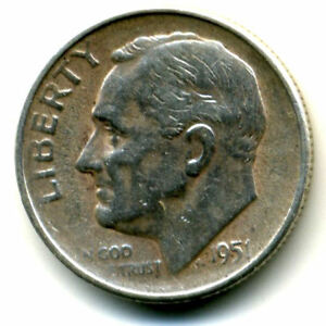 1951 S ROOSEVELT DIME SILVER 10 CENT SHARP ABOVE AVERAGE DETAIL NICE COIN1156