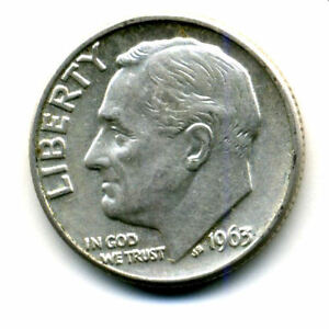 1963 D ROOSEVELT DIME SILVER 10 CENT SHARP ABOVE AVERAGE DETAIL NICE COIN399