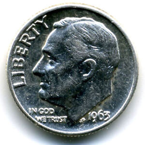 1963 D ROOSEVELT DIME SILVER 10 CENT SHARP ABOVE AVERAGE DETAIL NICE COIN4315