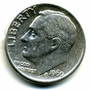 1960 D ROOSEVELT DIME SILVER 10 CENT SHARP ABOVE AVERAGE DETAIL NICE COIN4757