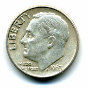 1963 D ROOSEVELT DIME SILVER 10 CENT SHARP ABOVE AVERAGE DETAIL NICE COIN354