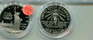 1986 S STATUE OF LIBERTY SILVER DOLLAR PROOF COIN NO BOX 8832M