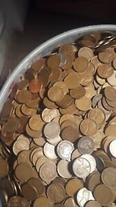 SIX ROLLS OF WHEAT PENNY'S  1859 TO 1958 D   A NICE MIX OF TEENS TO 50'S  000025