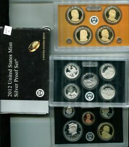 2012 S UNITED STATES 90  SILVER FULL PROOF SET ORIGINAL GOVERNMENT   9253M