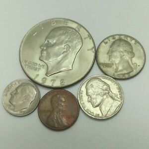VERY  MIXEDE LOT  COLLECTIBLES U.S COIN FROM 1976 1984