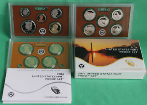 2014 S UNITED STATES MINT ANNUAL 14 COIN PROOF SET ORIGINAL BOX AND COA COMPLETE