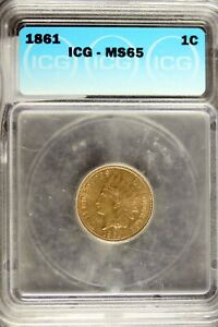 Click now to see the BUY IT NOW Price! 1861   ICG MS65 INDIAN HEAD CENT    HD0111