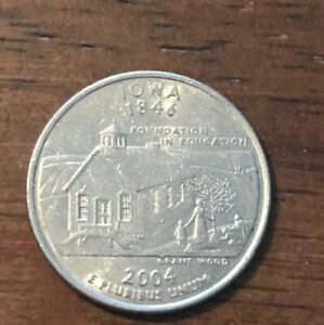 2004 D IOWA 50 STATES QUARTER  109  BUY 6 GET 40  OFF