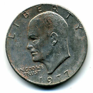 NICE 1977 P EISENHOWER DOLLAR CHOICE BRILLIANT UNCIRCULATED MINT STATE COIN4690