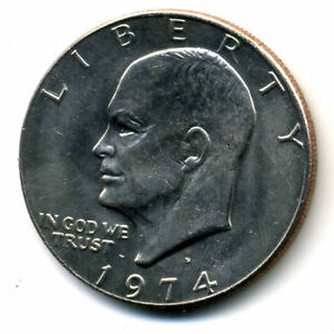 NICE 1974 D EISENHOWER DOLLAR CHOICE BRILLIANT UNCIRCULATED MINT STATE COIN1685