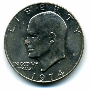 NICE 1974 P EISENHOWER DOLLAR CHOICE BRILLIANT UNCIRCULATED MINT STATE COIN4102