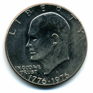NICE 1976 D EISENHOWER DOLLAR CHOICE BRILLIANT UNCIRCULATED MINT STATE COIN4785