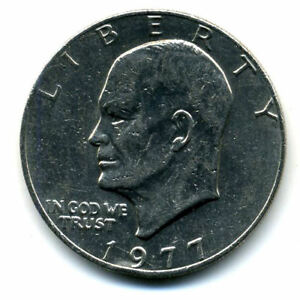 NICE 1977 P EISENHOWER DOLLAR CHOICE BRILLIANT UNCIRCULATED MINT STATE COIN4693