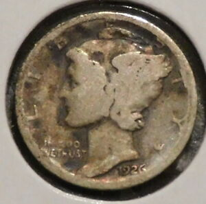 SILVER MERCURY DIME   1926 D   EARLY DATES    $1 UNLIMITED SHIPPING
