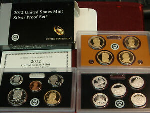 2012 UNITED STATES MINT SILVER PROOF SET   14 COINS W/ BOX AND COA US
