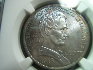 Click now to see the BUY IT NOW Price! 1918 LINCOLN ILLINOIS SILVER COMMEMORATIVE HALF DOLLAR NGC MS66 WOW COLOR