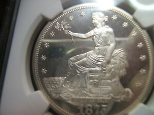 ULTRA  1875 PROOF TRADE DOLLAR NGC PF64 UCAM POP1 JUST 2 FINER