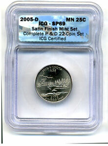 ICG SP69 2005 D MINNESOTA STATE QUARTER UNCIRCULATED  SATIN FINISH COIN264