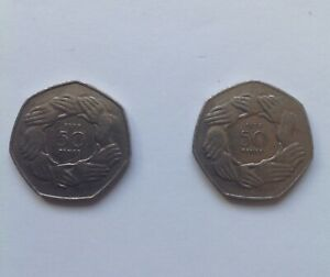BRITISH POUNDS. 50P UK ENTRY TO EEC FIFTY PENCE PRE BREXIT ENGLISH COIN. 1973