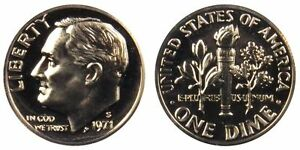 1971 S GEM BU PROOF ROOSEVELT DIME 10 CENT BRILLIANT UNCIRCULATED US COIN PF