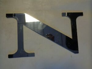 DONZI POLISHED ALUMINUM LOGO DECAL ( N ONLY) 4 5/8