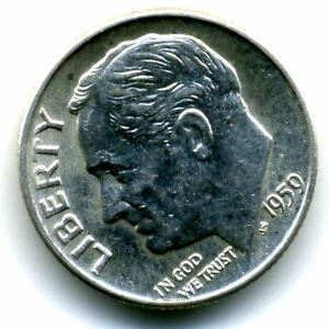 1959 D BU ROOSEVELT DIME SILVER 10 CENT SHARP BRILLIANT UNCIRCULATED COIN 4310