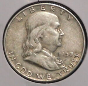 FRANKLIN HALF DOLLAR   1950 D   HISTORIC SILVER    $1 UNLIMITED SHIPPING